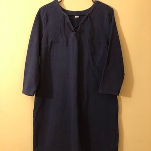 Old Navy Dress with Lace-Up Neckline